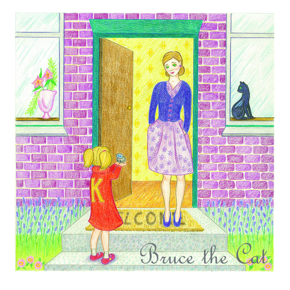 Bruce the Cat book illustration